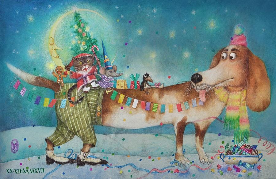 Новый_год_Собакена Моля Собакен лает, а Новый год идет.
