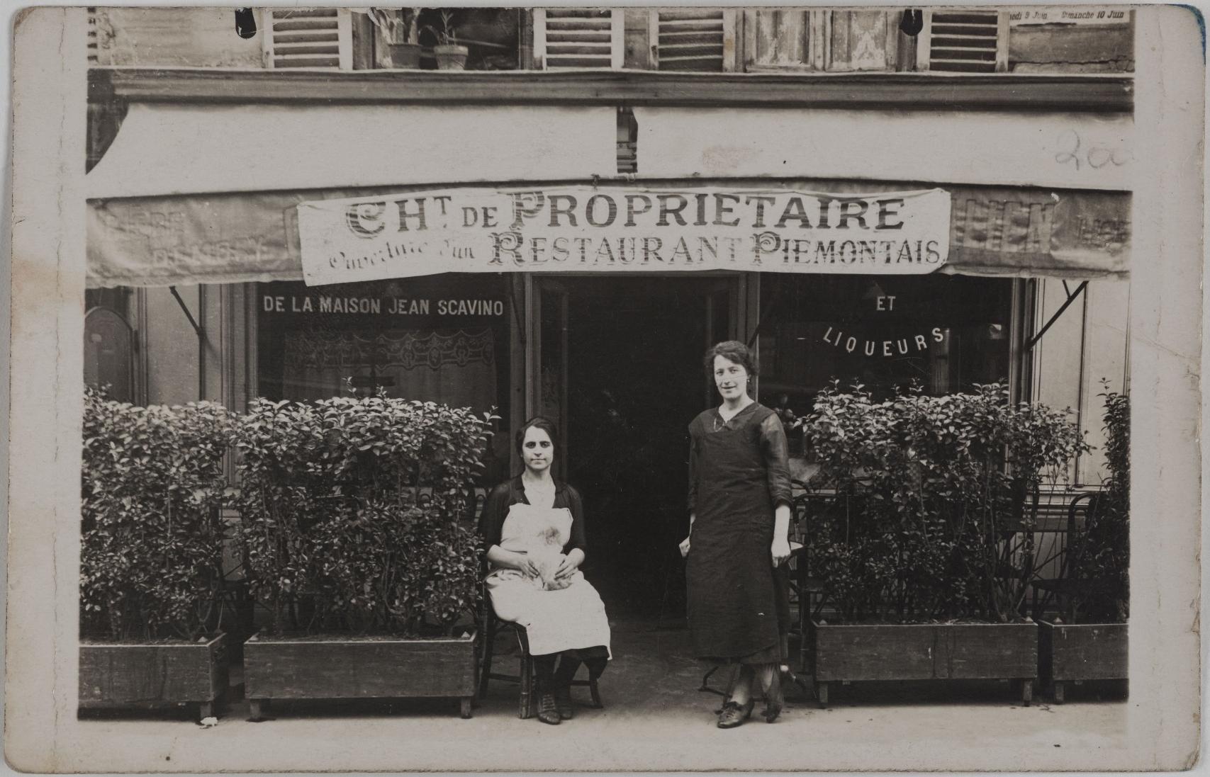 1924. Ресторан Пьемонт. 253, rue du Faubourg Saint-Antoine (11-й округ). Сейчас на этом месте Агентство медицинского страхования