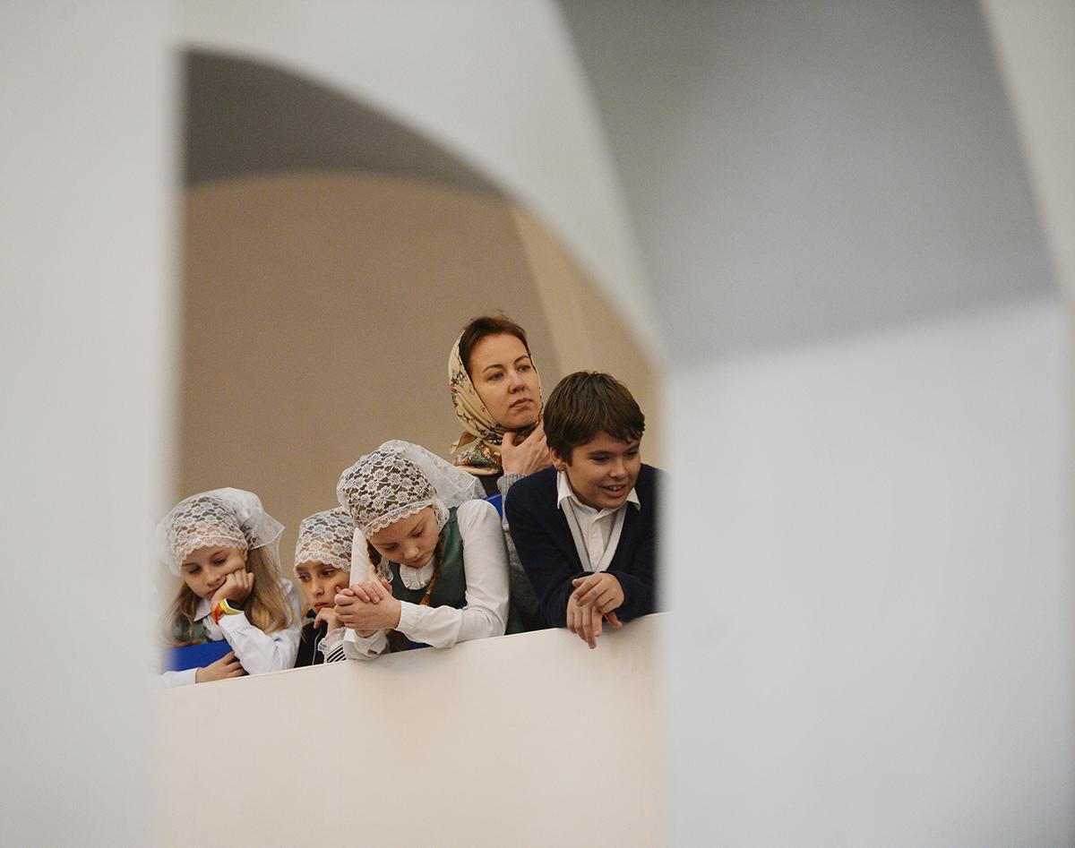 Патриарх Кирилл освятил храм преподобного Сергия Радонежского 22 окт, 2017, Москва(5)