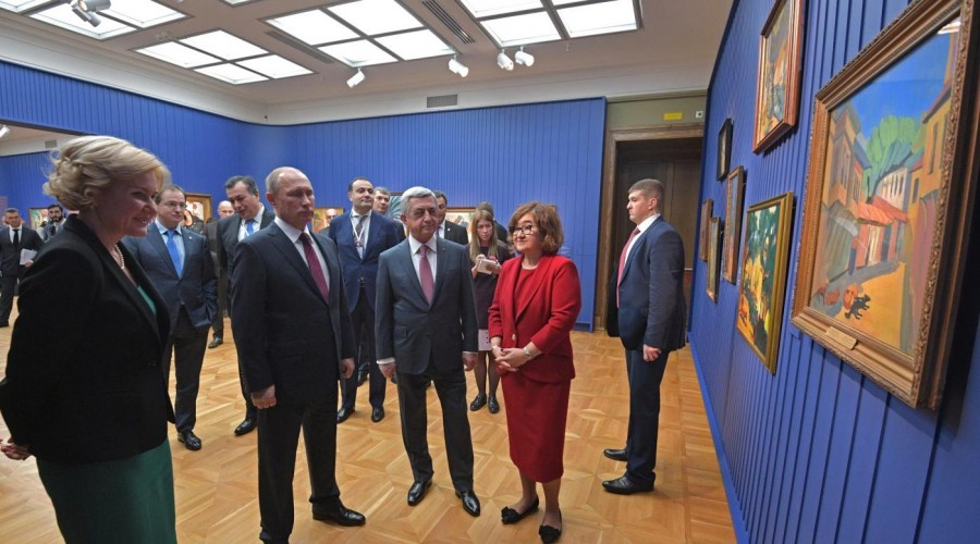 Владимир Путин и Серж Саргсян посетили Третьяковскую галерею
