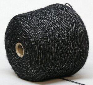 Gruppo Filpucci Industrie Filati OMBRA (500 nero)  черный в белом