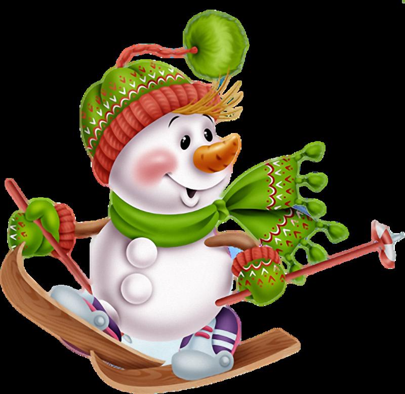 Картинки снеговики на коньках