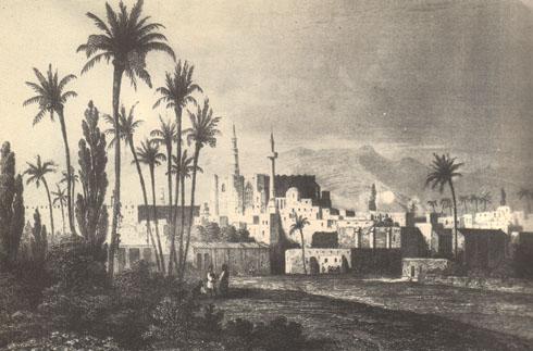 Вид Никосии. 1853. Гравюра на металле