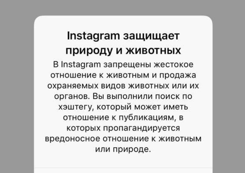 Инстаграм запретила селфи сживотными
