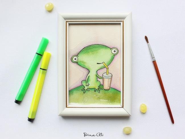 Мой сын увлекся рисованием. Увидел, что у него не просто детские рисунки, а действительно что-то сер