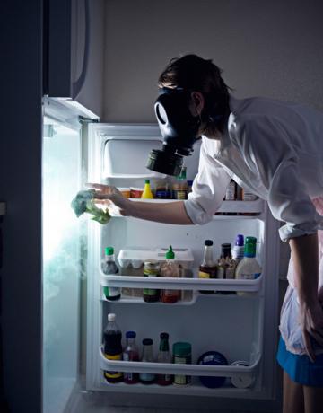 21. Как только что-то испортилось в холодильнике, запах и плесень останутся надолго, так что холодил