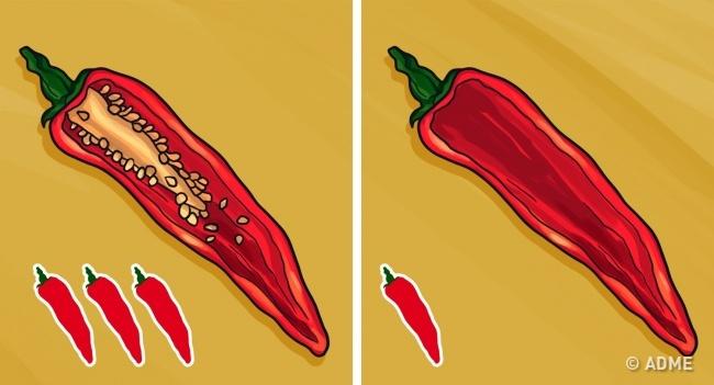 Любите перец чили, новас пугает его острота? Просто удалите семена иперегородки, апото