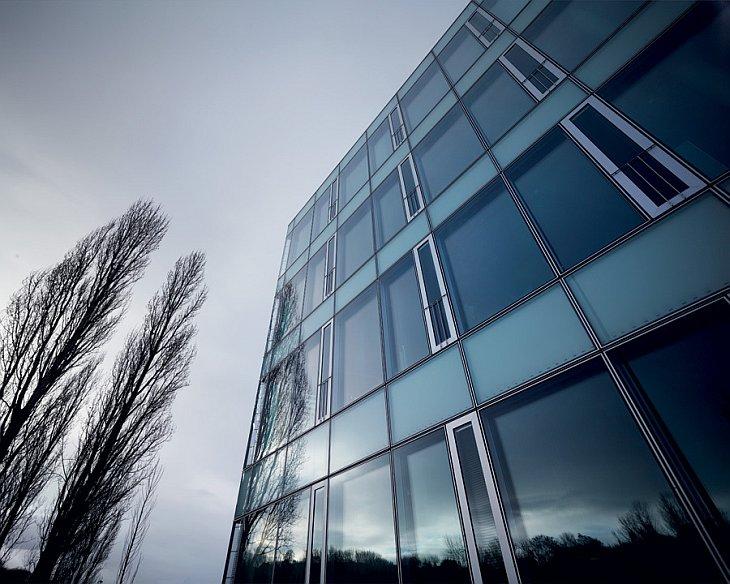 Так выглядит штаб квартира компании в Шаффхаузене: