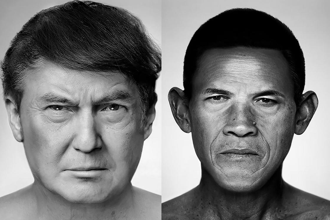 Artist recreates famous portraits by mixing the faces of unknown (24 pics)