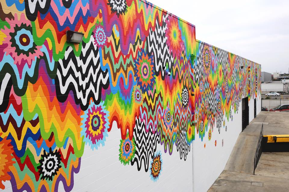 "Streets: Jen Stark – ""Chromatic Cascade"" (Los Angeles) (4 pics)"