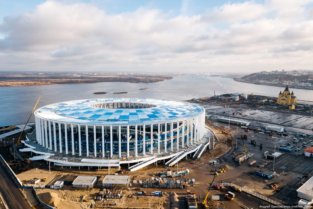 Стадион Нижний Новгород в ноябре