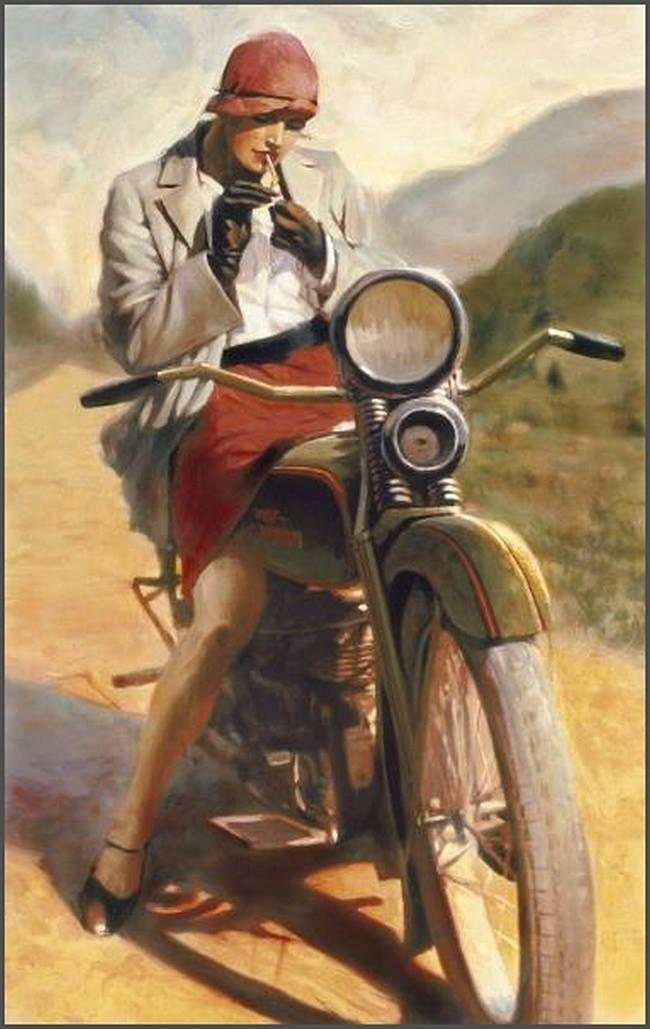 Дэвид Уль. Мотоциклы и красивые девушки.