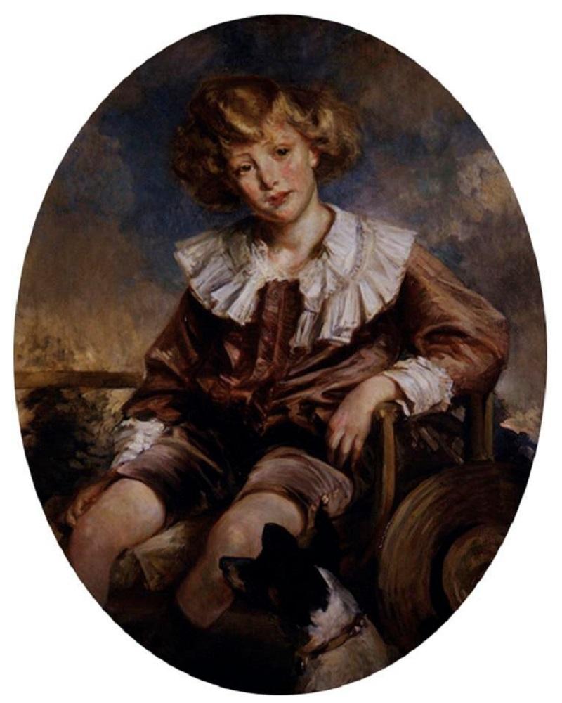 PORTRAIT OF ANTONIN DE MUN AS A YOUNG BOY.