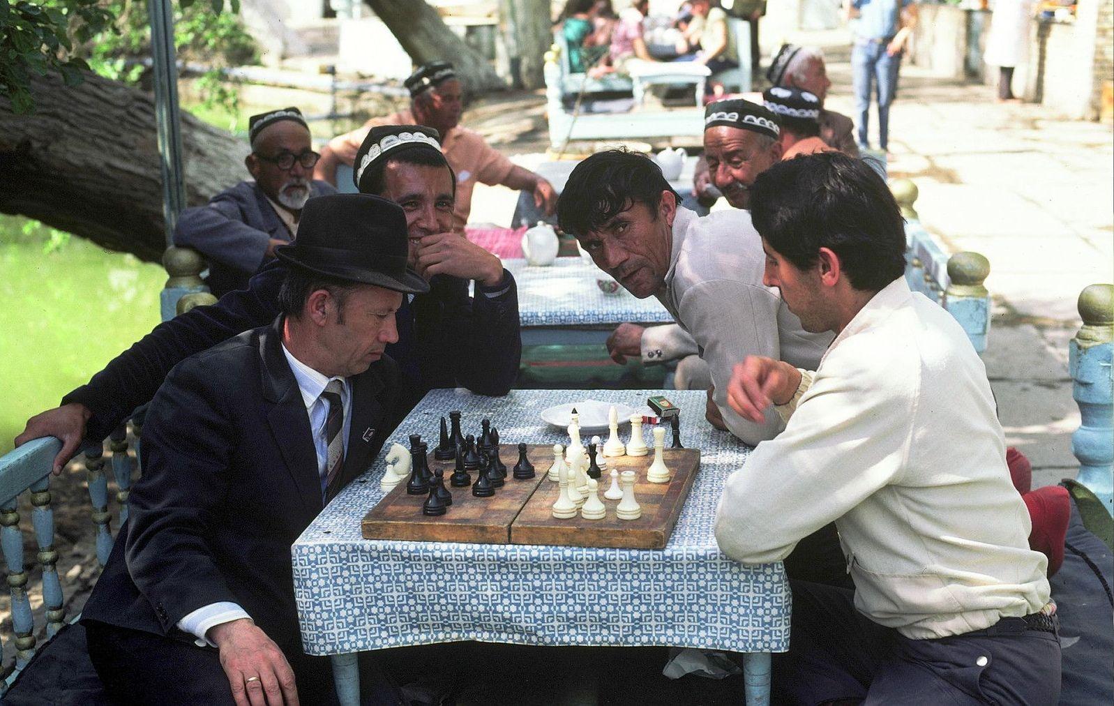 Самарканд. Шахматы в парке