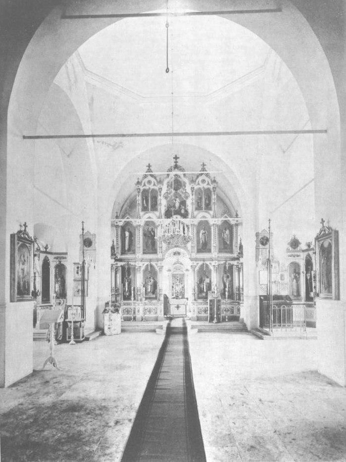 Новый Никольский храм в селе Сура, главный престол. 1891