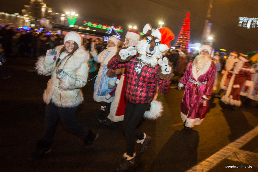 Pre-New Year Parade in Minsk