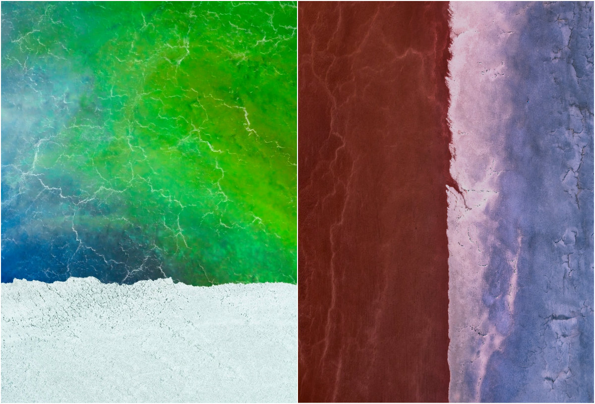 Потрясающие аэрофотографии потоков озера Эйр