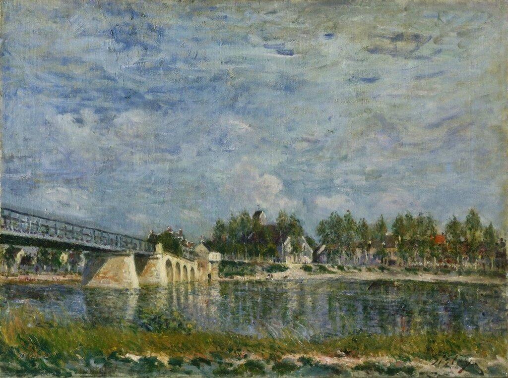 Сислей, Альфред (1839 Париж - 1899 Море-сюр-Луан) -- Мост в Сен-Маммес