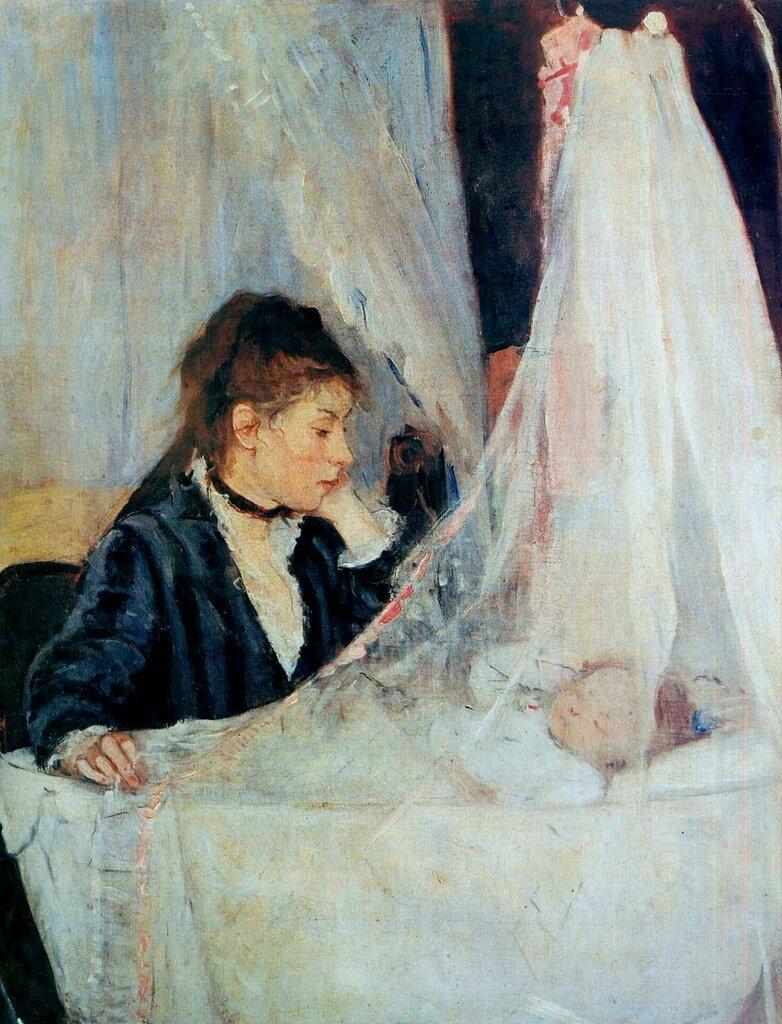 Берта Моризо: Колыбель, 1872