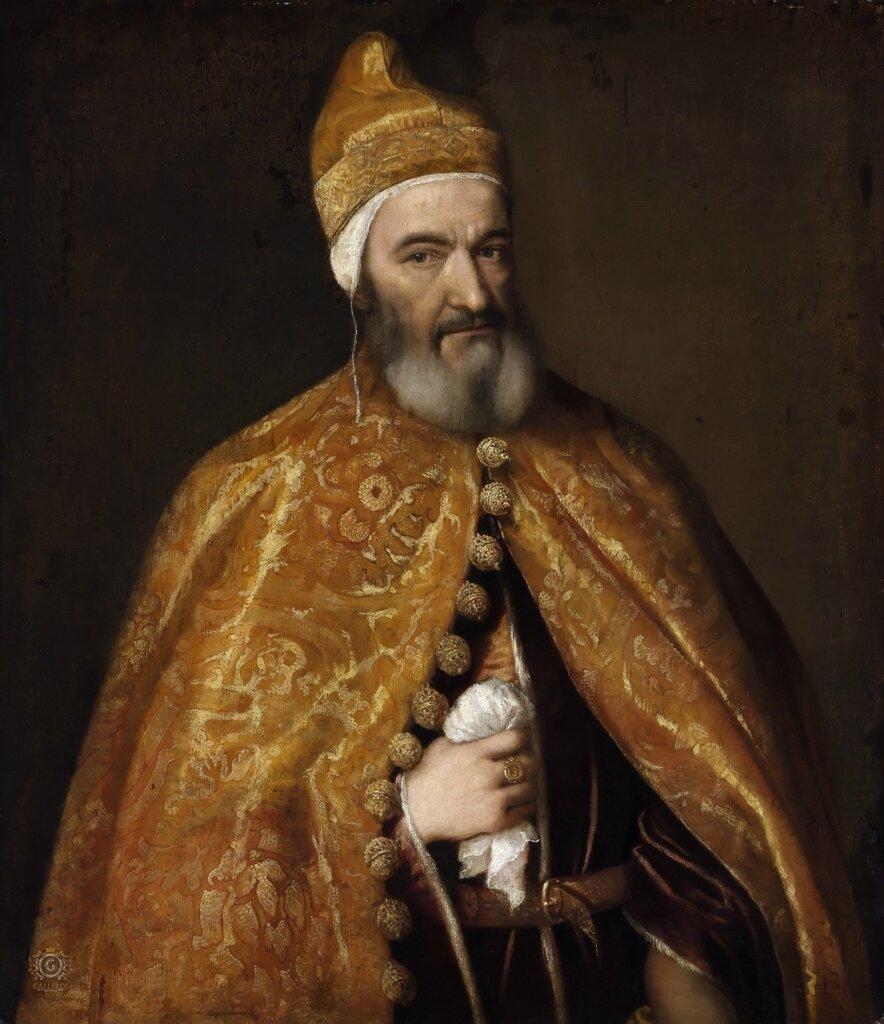 Портрет Маркантонио Тревизани, дожа Венеции1553-54. 100х86,5 Музей изобразительных искусств, Будапешт