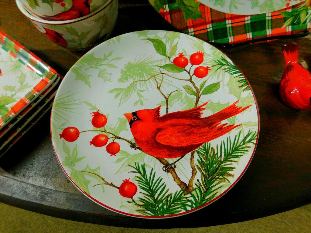Красный кардинал-символ Рождества