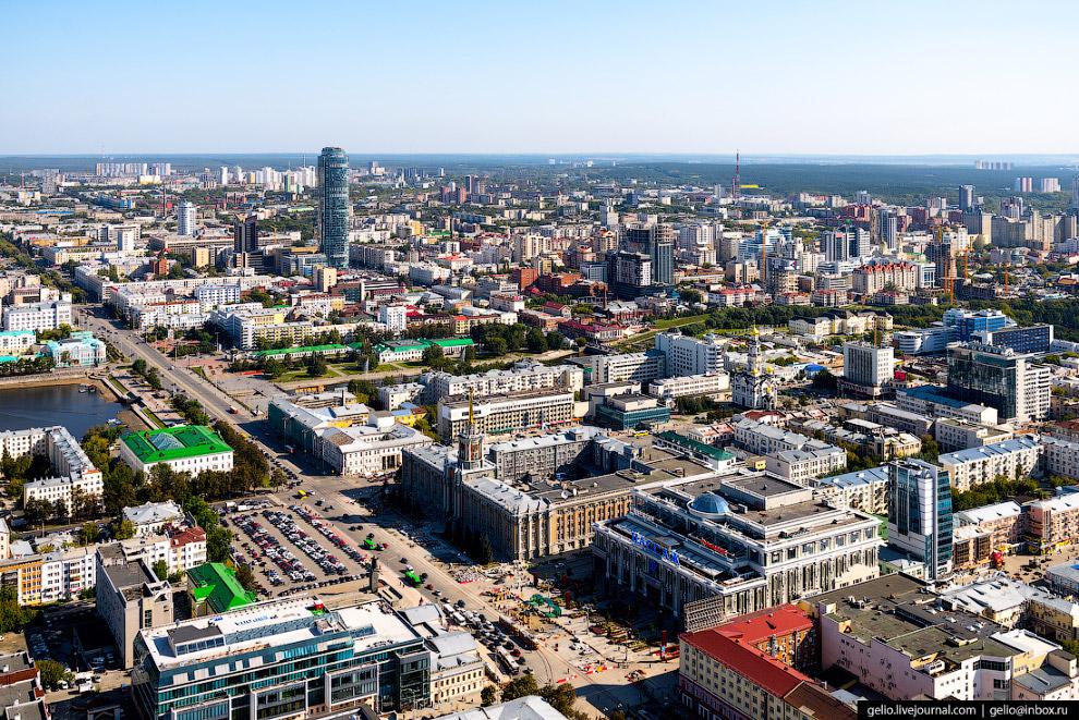 4. Исторический центр Екатеринбурга. Город был образован в 1723 году и своим рождением обязан органи