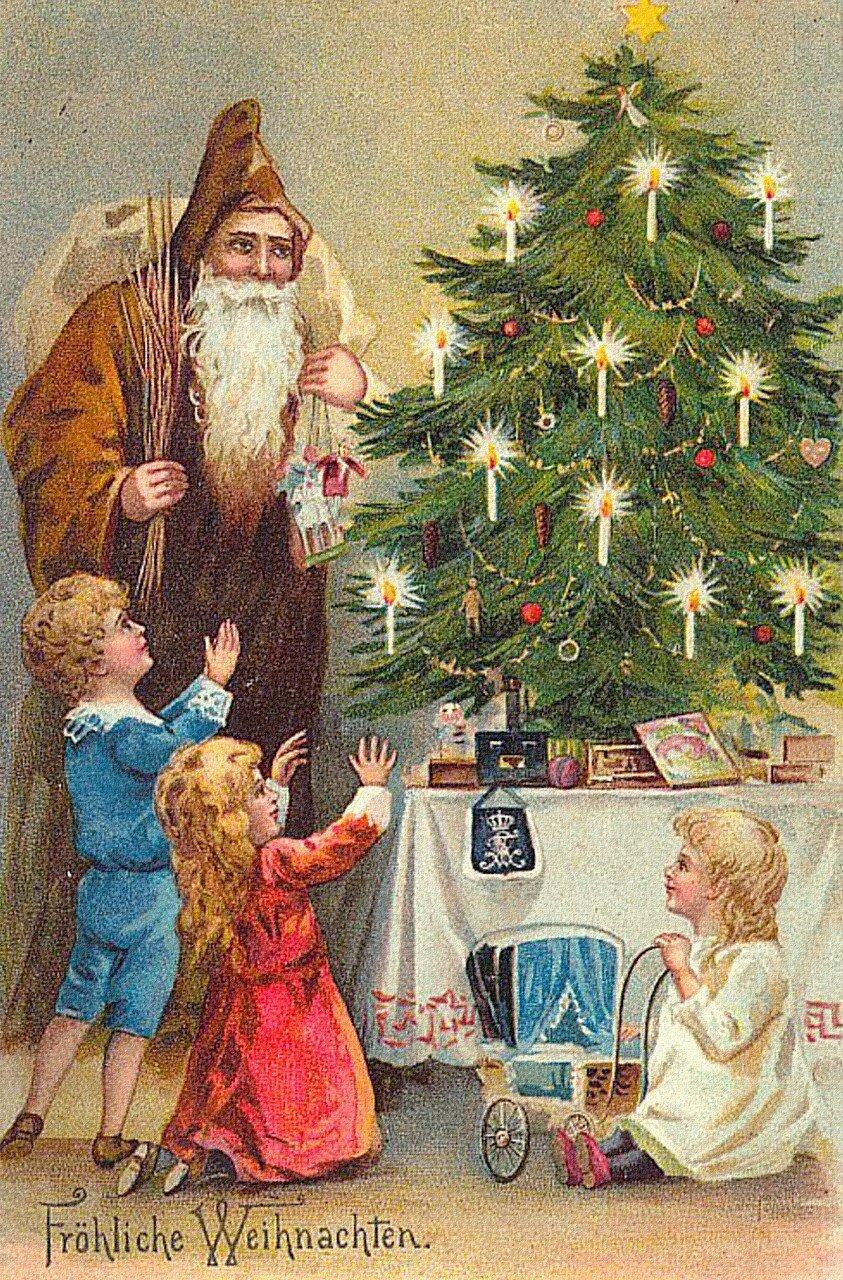 Старинные открытки о новом годе и рождестве, пдд детском саду