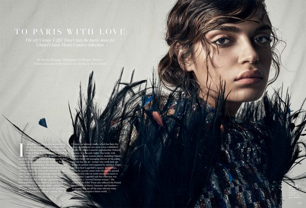 Rubina Dyan Models Chanel Haute Couture for Fashion Magazine (14 pics)