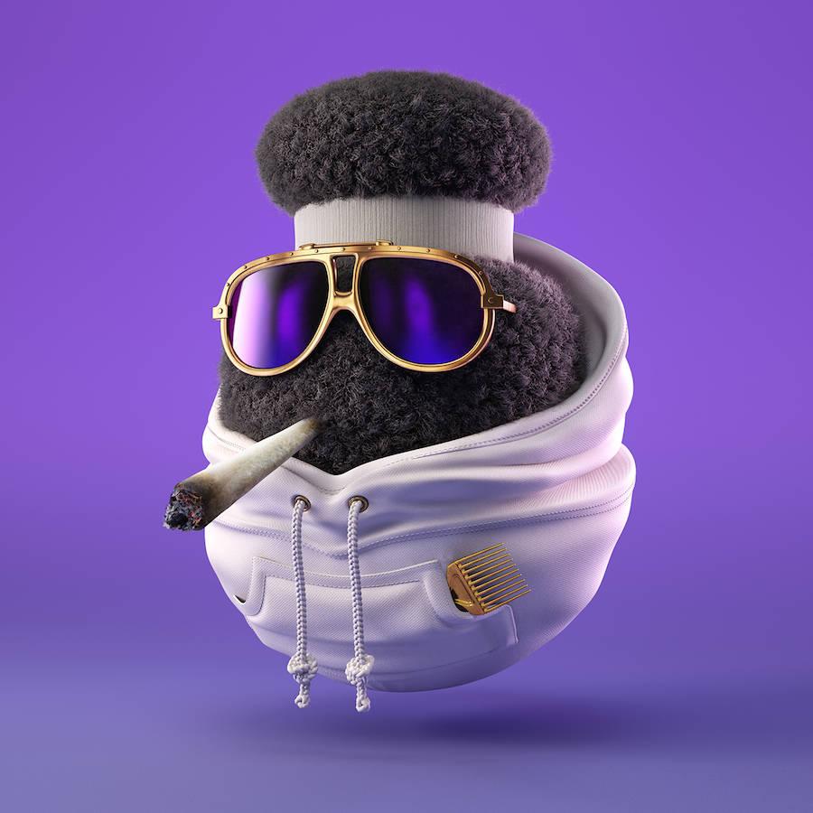 3D Funny Hip-Hop Characters