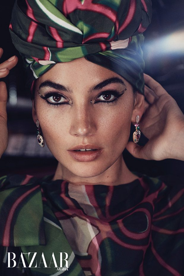 Lily Aldridge Stars in Harper's Bazaar Arabia December 2017 Cover Story
