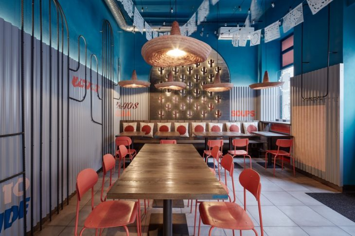 Studio Formafatal have designed Burrito Loco, a fast food restaurant focused on Mexican cuisine. The