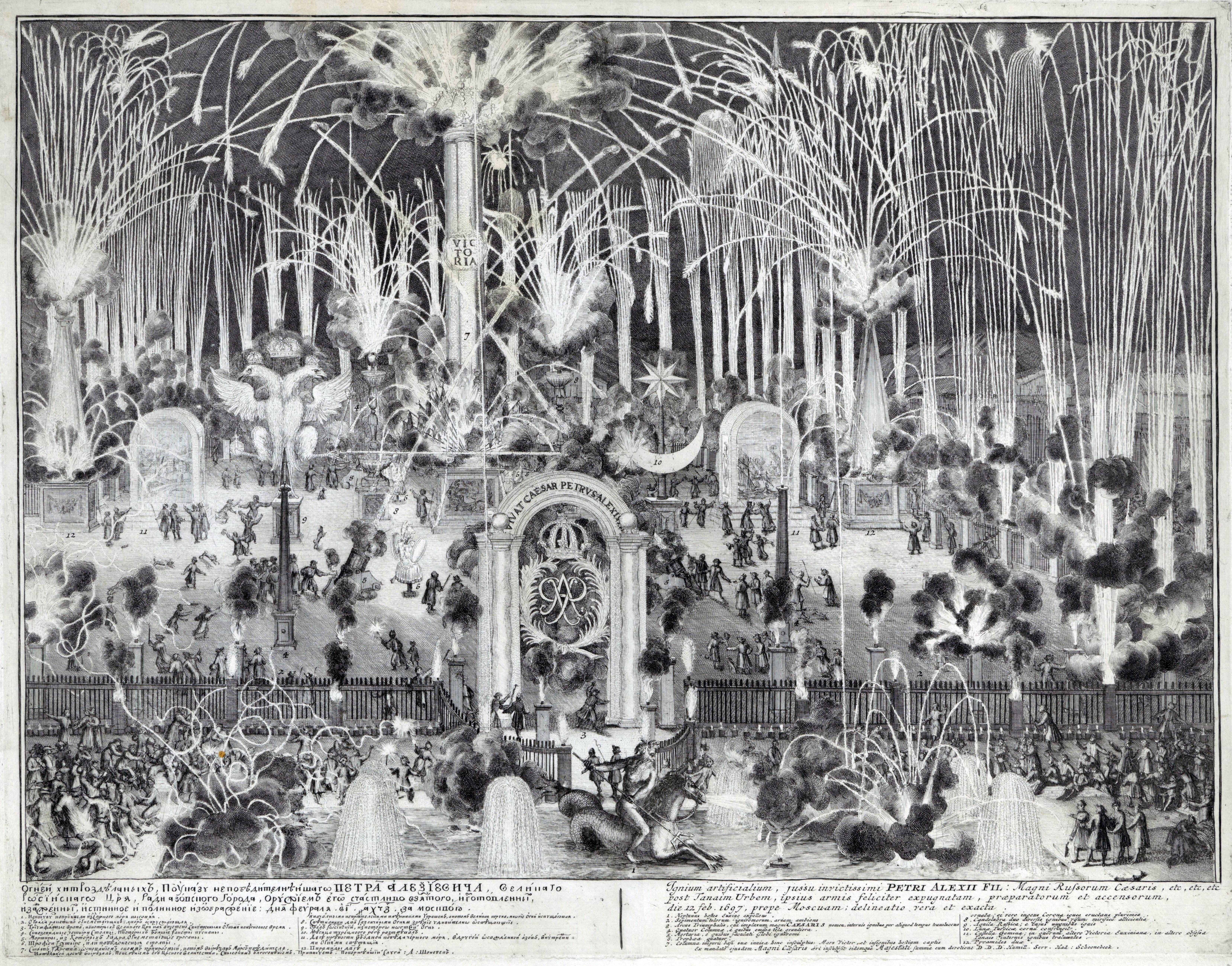 Русские фейерверки и иллюминации XVIII века. Часть II