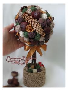топиарий, эко-стиль, интерьерное дерево, ручная работа, подарки, осень, рукоделки василисы
