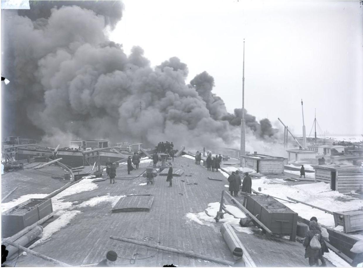 Пожар в Муромском затоне