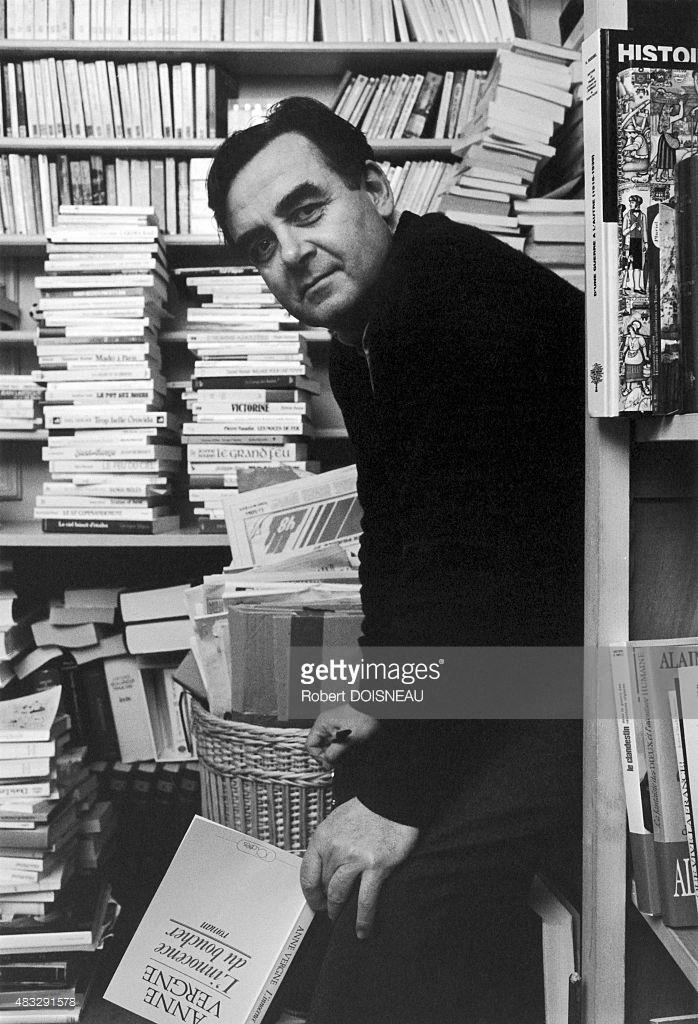 1985. Портрет французского журналиста и телеведущего Бернар Пиво