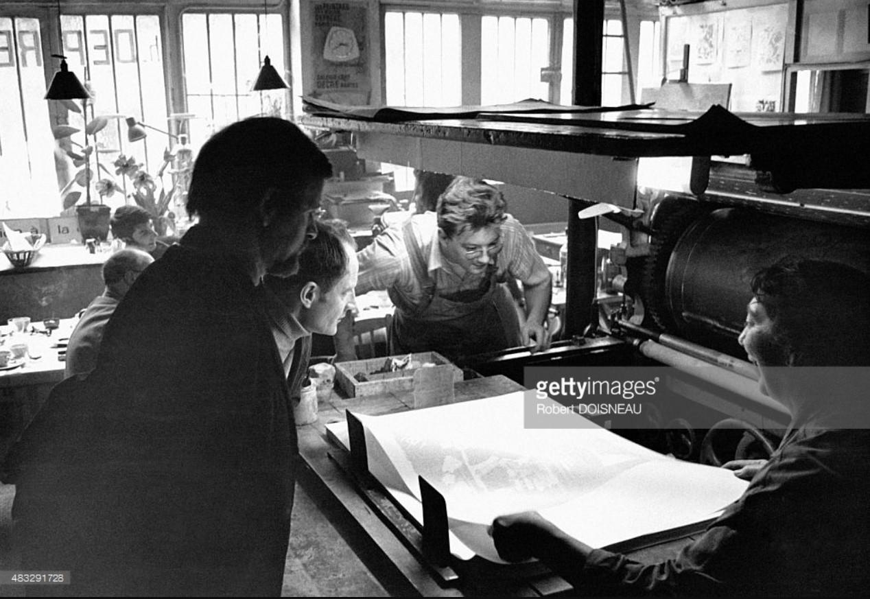 Работники полиграфической типографии