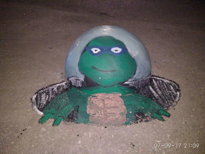 Парковочная полусфера - Черепашка-Ниндзя Леонардо.jpg