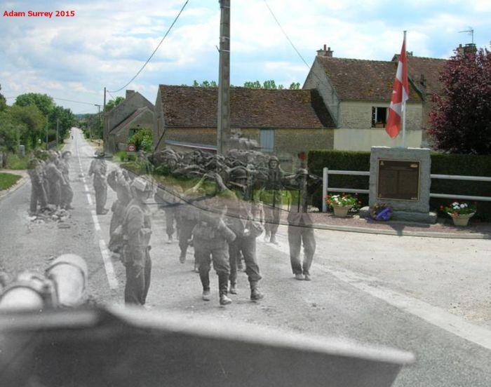 Фотограф Адам Суррей совместил старые военные снимки