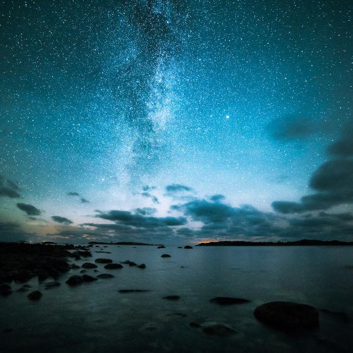 Финляндия, ночь, звёзды и неспящий фотограф (14 фото)