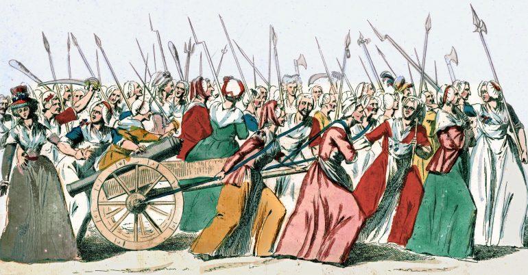 Под совместные женско-мущинские вопли «На Версаль!» толпа предприняла попытку вломится в р