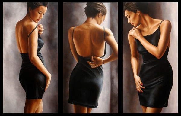 Прекрасные женские изгибы, написанные маслом художницы Annick Bouvattier