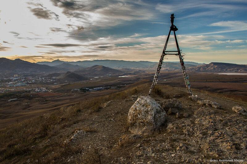 Триангулятор на вершине горы Кучук-Енишар