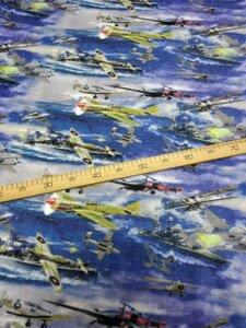 Флис АНТИПИЛЛИНГ cамолеты 2-х сторонний, Digital, ширина 180см, плотность 200-220гр/м, Цена 430 рублей