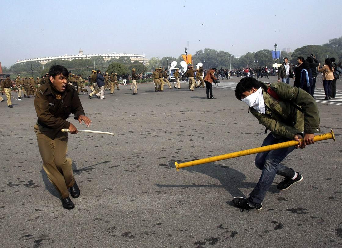 С трубой против дубинки: особенности индийского уличного протеста