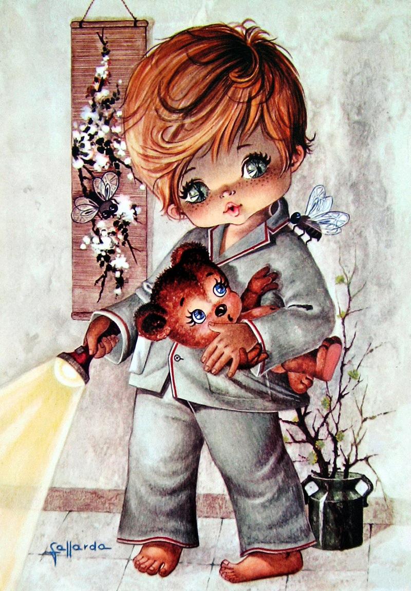 Краски-я полюбила мальчика с открытки