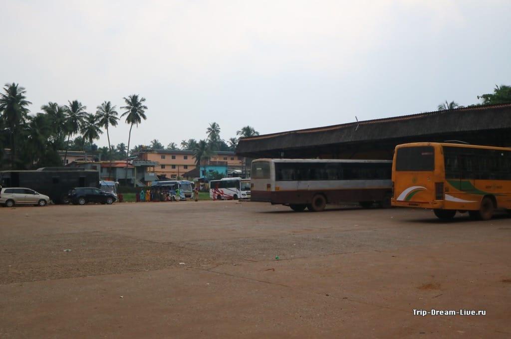Автобусная станция в Гокарне