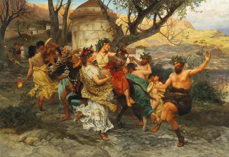 A bacchanal. Праздник Вакха. 1890 После Генриха Семирадского