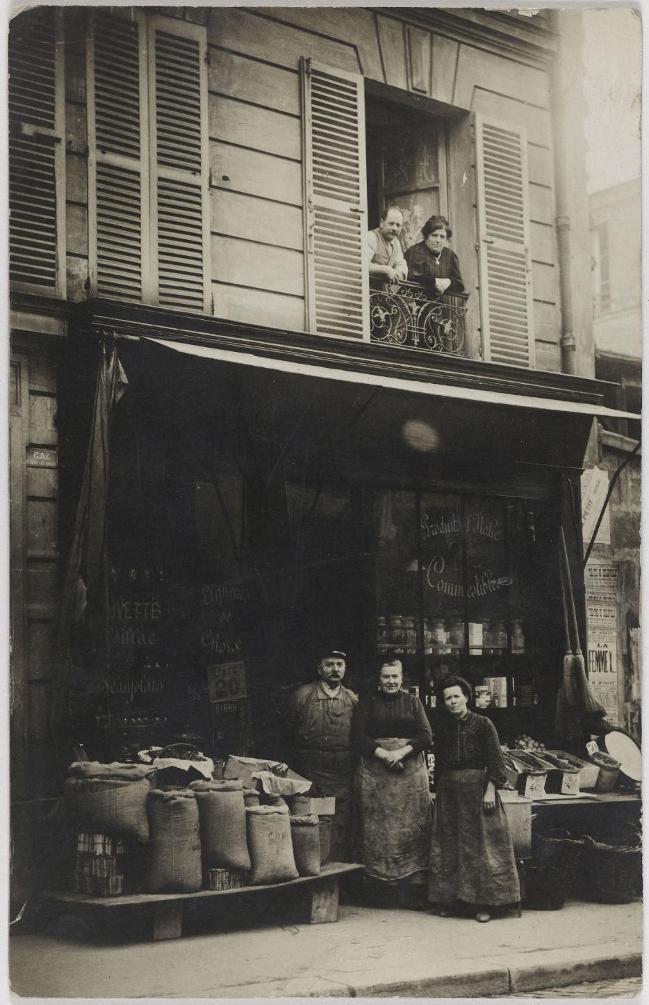 1910. Бакалея и алкоголь, буфет. rue de Belleville (19 округ)