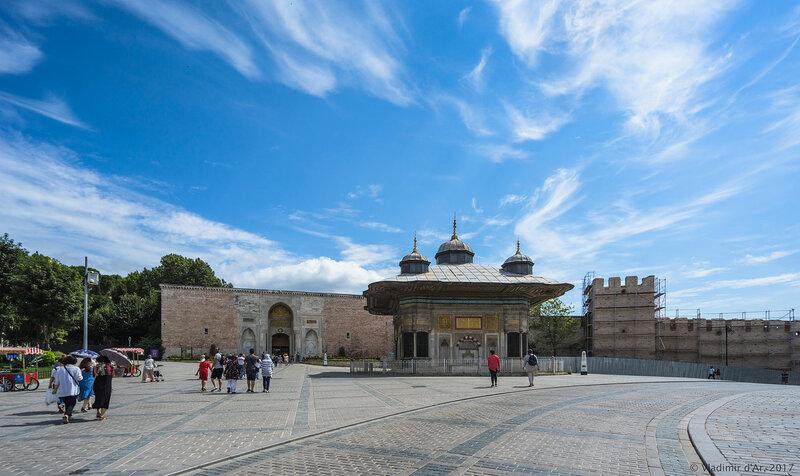 Ворота дворца Топкапы. Стамбул.