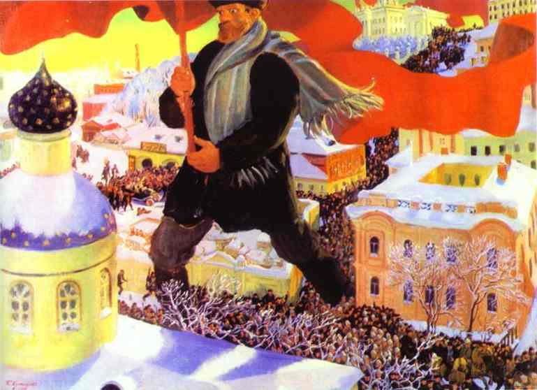 Кустодиев, Большевик.1920г.